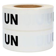 Gefahrgutetiketten, UN (Handbeschriftung), Polypropylen, weiß-schwarz, 150 x 50 mm, 1000 Etiketten