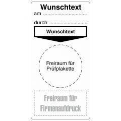 Grundplaketten nach Kundenwunsch, Vinyl, weiß, permanent, weiß-schwarz, 80 x 40 mm, 500 Etiketten