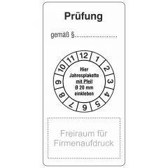 """Grundplaketten """"Smart"""" nach Kundenwunsch, Vinyl, weiß, permanent, weiß-schwarz, 80 x 40 mm, 500 Etiketten"""