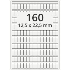 cable markers A4 sheet for laser printers, polyester, permanent, extra clear, 12.5 x 22.5 mm, labeling field: white, 12.5 x 6 mm, 16000 pcs