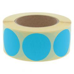 Papier, blau, ablösbar, Ø 50 mm, 3 Zoll Rollenkern, 1000 Klebepunkte auf 1 Rolle(n)