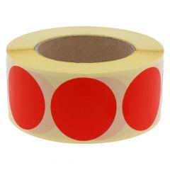 Papier, rot, ablösbar, Ø 50 mm, 3 Zoll Rollenkern, 1000 Klebepunkte auf 1 Rolle(n)