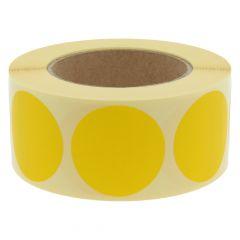 Papier, gelb, ablösbar, Ø 50 mm, 3 Zoll Rollenkern, 1000 Klebepunkte auf 1 Rolle(n)