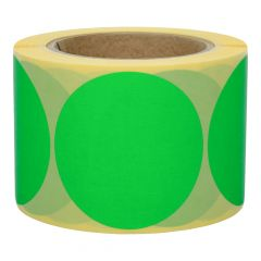 paper, green, removable, Ø 75 mm, 3 inch (76.2 mm) roll core, 500 adhesive dots on 1 roll(s)