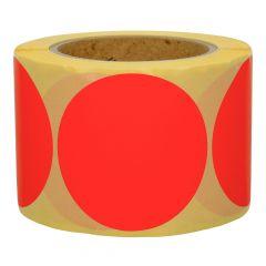 Papier, rot, ablösbar, Ø 75 mm, 3 Zoll Rollenkern, 500 Klebepunkte auf 1 Rolle(n)