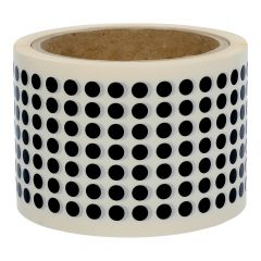 Vinyl, schwarz, permanent klebend, Ø 6,4 mm, 3 Zoll Rollenkern, 10000 Klebepunkte auf 1 Rolle(n)
