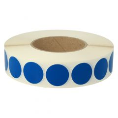 vinyl, blue, permanent, Ø 30 mm, 3 inch (76.2 mm) roll core, 3000 adhesive dots on 1 roll(s)