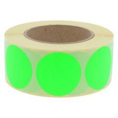 Papier, leucht grün, permanent klebend, Ø 50 mm, 3 Zoll Rollenkern, 1000 Klebepunkte auf 1 Rolle(n)