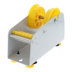 Tisch/Wand Etikettenspender, Labelident ALB-316, Metall, grau, Rollenbreite max.: 75 mm