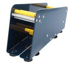 Tisch Etikettenspender, Labelident ALB-318, Metall, blau, Rollenbreite max.: 75 mm