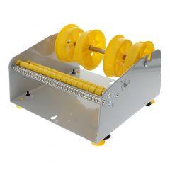 Tisch/Wand Etikettenspender, Labelident ALB-816, Metall, grau, Rollenbreite max.: 212 mm
