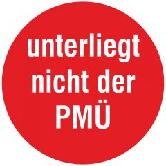 Inspection and Calibration Labels, unterliegt nicht der PMÜ, tamper-proof PE, red-white, Ø 10 mm, 1000 labels