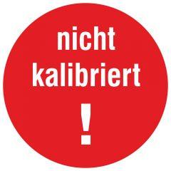 Inspection and Calibration Labels, Nicht kalibriert, tamper-proof PE, red-white, Ø 10 mm, 1000 labels