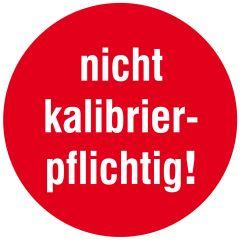 Inspection and Calibration Labels, nicht kalibrierpflichtig!, tamper-proof PE, red-white, Ø 10 mm, 1000 labels
