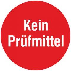 Inspection and Calibration Labels, Kein Prüfmittel, tamper-proof PE, red-white, Ø 10 mm, 1000 labels