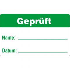 Qualitätssicherung, Geprüft, Polypropylen, weiß-grün, 38 x 23 mm, 100 Etiketten