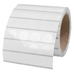 polyester labels, transparent, permanent, Ø 20 mm, 3 inch (76.2 mm) core diameter, 4000 labels on 1 roll(s)