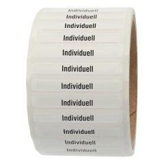 Siegeletiketten nach Kundenwunsch, PE Etiketten/Dokumentenfolie, weiß-schwarz, 50,8 x 6,35 mm, manipulationssicher