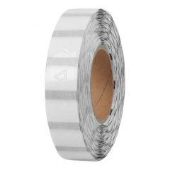 palpable hazard warning signs, PE foil, permanent, 15 x 15 mm, DIN EN ISO 11683, 40 mm core diameter