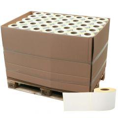 Thermoetiketten Eco unbeschichtet, weiß, permanent klebend, Trägerperforation, 148 x 210 mm, 3 Zoll Rollenkern, 113760 Etiketten auf 144 Rolle(n)