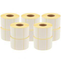 Thermoetiketten Eco, permanent, 58 x 53 mm, 1,57 Zoll (40 mm) Rollenkern, 8500 Etiketten, 10 Rolle(n)