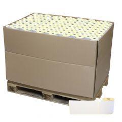 Thermoetiketten Eco unbeschichtet, weiß, permanent klebend, Trägerperforation, 102 x 210 mm, 1 Zoll Rollenkern, 161280 Etiketten auf 768 Rolle(n)