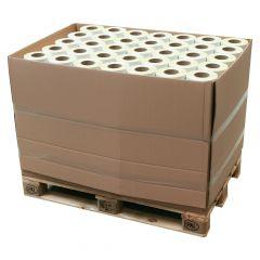 Thermoetiketten Eco unbeschichtet, weiß, permanent klebend, Trägerperforation, 103 x 199 mm, 3 Zoll Rollenkern, 147000 Etiketten auf 196 Rolle(n)