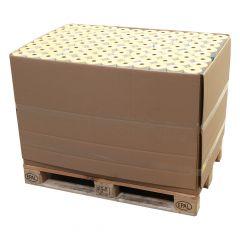 Thermoetiketten Eco unbeschichtet, weiß, permanent klebend, Trägerperforation, 103 x 199 mm, 1 Zoll Rollenkern, 168000 Etiketten auf 672 Rolle(n)