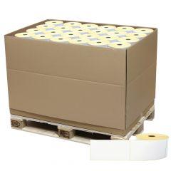 Thermoetiketten Eco unbeschichtet, weiß, permanent klebend, Trägerperforation, 103 x 199 mm, 40 mm Rollenkern, 168000 Etiketten auf 168 Rolle(n)