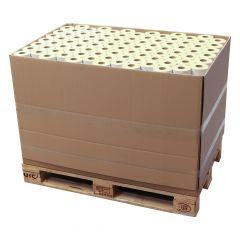 Thermoetiketten Eco unbeschichtet, weiß, permanent klebend, Trägerperforation, 103 x 199 mm, 40 mm Rollenkern, 157500 Etiketten auf 630 Rolle(n)