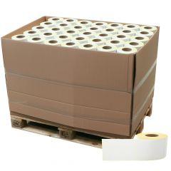 Thermoetiketten Eco unbeschichtet, weiß, permanent klebend, Trägerperforation, 110 x 162 mm, 3 Zoll Rollenkern, 154560 Etiketten auf 168 Rolle(n)