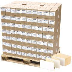 Thermoetiketten Eco, weiß, permanent klebend, Trägerperforation, 100 x 150 mm, 322000 Falzetiketten in 161 Packung(en)