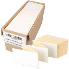 Thermoetiketten Eco, weiß, permanent klebend, Trägerperforation, 100 x 150 mm, 2000 Falzetiketten in 1 Packung