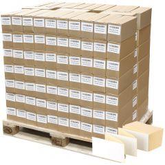 Thermoetiketten Eco, weiß, permanent klebend, Trägerperforation, 102 x 152 mm, 322000 Falzetiketten in 161 Packung(en)