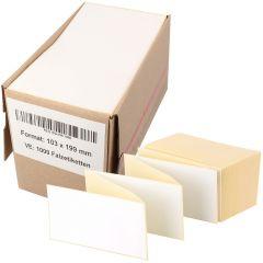 Thermoetiketten Eco, weiß, permanent klebend, Trägerperforation, 103 x 199 mm, 1000 Falzetiketten in 1 Packung