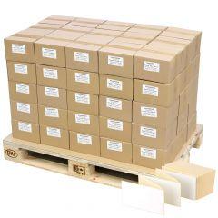 Thermoetiketten Eco, weiß, permanent klebend, Trägerperforation, 103 x 199 mm, 150000 Falzetiketten in 75 Packung(en)