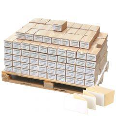 Thermoetiketten Eco, weiß, permanent klebend, Trägerperforation, 103 x 199 mm, 100000 Falzetiketten in 200 Packung(en)