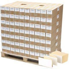 Thermoetiketten Eco, weiß, permanent klebend, Trägerperforation, 105 x 148 mm, 322000 Falzetiketten in 161 Packung(en)