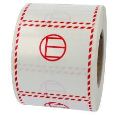 Transportaufkleber, Limited Quantities LQ, Polypropylen, weiß-rot, 100 x 100 mm, LQ-E (excepted quantities)