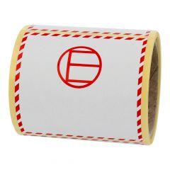 Transportaufkleber, Limited Quantities LQ, Papier, weiß-rot, 100 x 100 mm, LQ-E (excepted quantities)