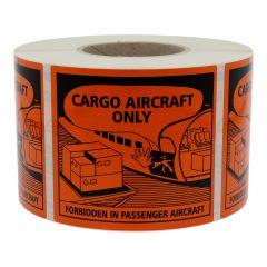 Transportaufkleber, Polyethylen, orange-schwarz, 120 x 110 mm, Luftfracht geeignet