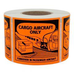 Transportaufkleber, Papier, orange-schwarz, 120 x 110 mm, Luftfracht geeignet