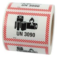 Transportaufkleber, ADR Sondervorschrift 188, Papier, weiß-schwarz/rot, 100 x 70 mm, enthält Lithium Metall Batterien