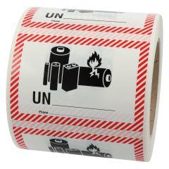 Transportaufkleber, ADR Sondervorschrift 188, Papier, weiß-schwarz/rot, 100 x 70 mm, enthält Lithium Ionen oder Metall Batterien, Akku