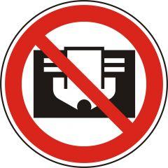 Nicht abdecken, Verbotszeichen, D-P030, ASR A1.3, Polypropylen, weiß - schwarz/rot, Ø 20 mm