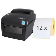 Godex DT4X label printer set, 203 dpi, base model with tear-off edge