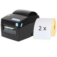 Labelident BP4X Etikettendrucker-Set, 203 dpi, Basisgerät mit Abreißkante