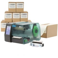 cab EOS2 label printer set, 300 dpi, model with tear-off edge