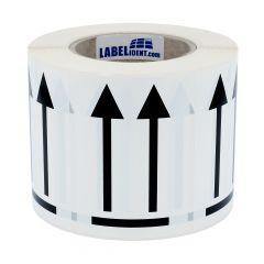 Versandetikett, Polyethylen, weiß-schwarz, 74 x 105 mm, Seite nach oben, 1000 Etiketten