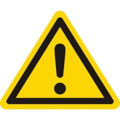 Achtung (Caution), caution sign W001, ASR A1.3, PVC/vinyl, yellow-black, side length: 25 mm